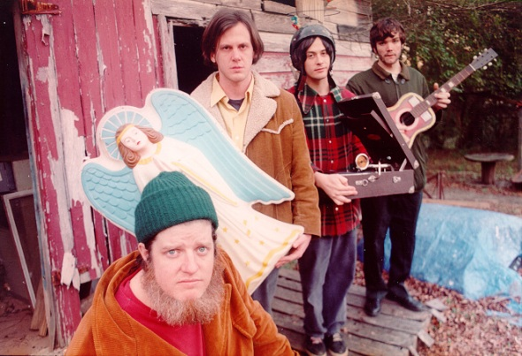 Jeff Mangum (2nd from Left) Holding an Angel